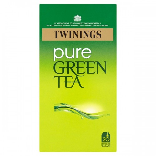 Twinings Pure Green Tea 20 Enveloped Bags 50g