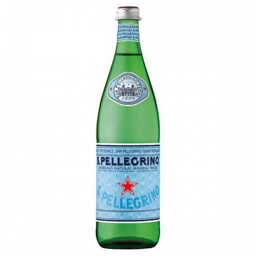 San Pellegrino Sparkling Natural Mineral Water Glass 750ml Case of 12