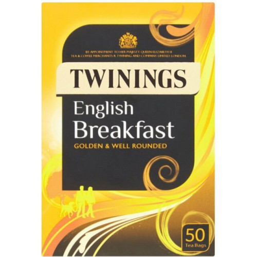 Twinings English Breakfast Envelope Tea Bag Pack of 50 Case of 4