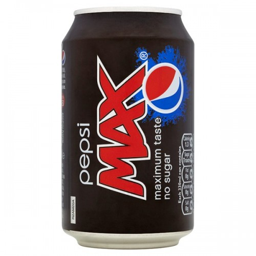Pepsi Max  330ml Cans Case of 24