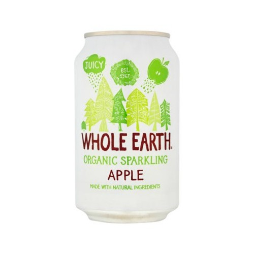 Whole Earth Organic Light Sparkling Apple 330ml by Whole Earth Case 24