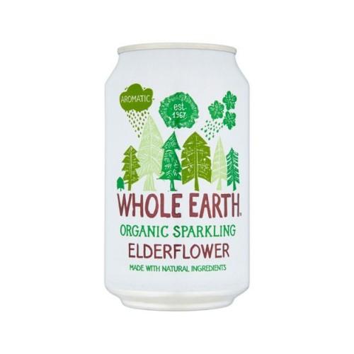 Whole Earth Organic Sparkling Elderflower 330ml by Whole Earth Case 24