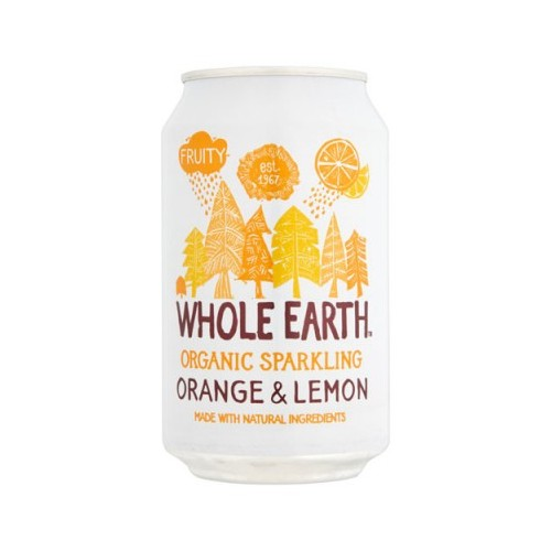 Whole Earth Organic Lightly Sparkling Orange and Lemon Drink 330 Case 24