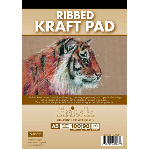 Frisk A3 Kraft Paper Pad  Ribbed 90gsm  100s