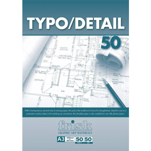 Frisk A1 Typo Detail Pad 53gsm  50s