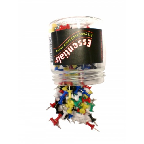 Value Push Pin Assorted Colours (PK200)