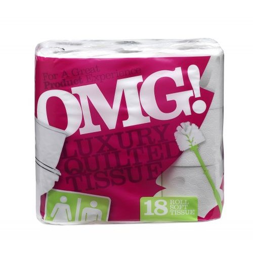 OMG Std Toilet Rolls White (Pack 18)