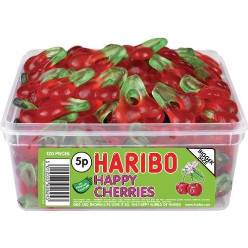 Haribo Giant Happy Cherries Drum