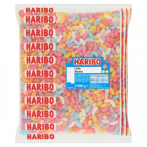 HARIBO Jelly Beans 3kg Case of 4