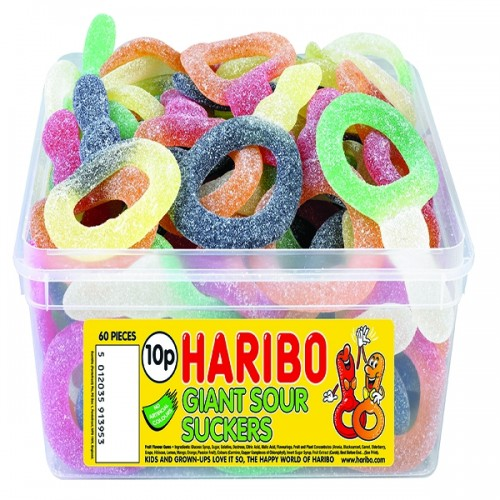 Haribo Giant Sour Suckers Drum