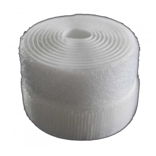 Velcro Rip `n` Grip Adhesive Hook 25mm x 25 Metres White Fastener Tape