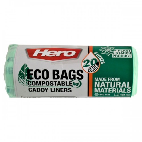 20 Bio Bags Compostable Bin Liners 5 Litres Pack 4