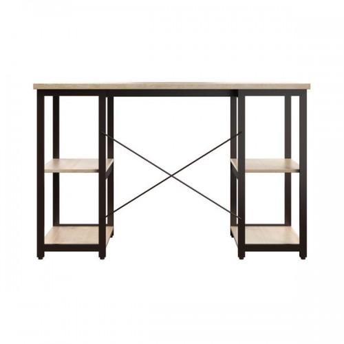 WFH Computer desk with Shelves Oak/Brown Leg