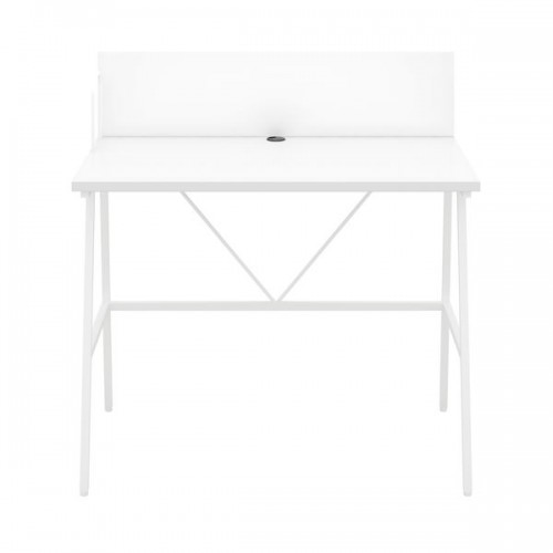 WFH Home Working A-Frame Desk with Backboard - White