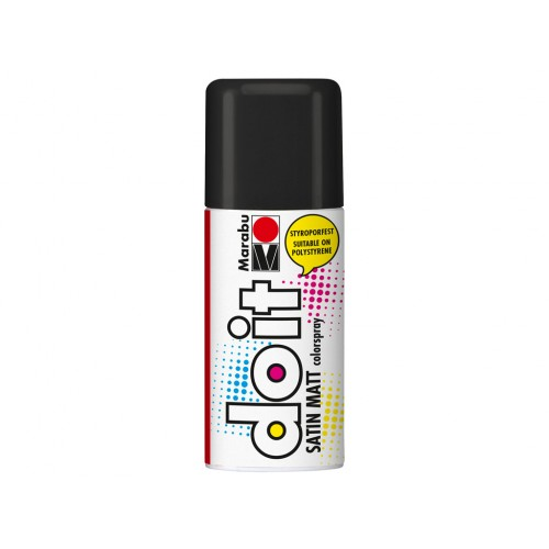 Marabu Do-It Colour Spraypaint Black Satin Matt 150ml  (073)