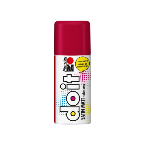 Marabu Do-It Colour Spraypaint Carmine Red Satin Matt 150ml  (032)