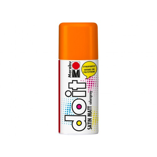 Marabu Do-It Colour Spraypaint Orange Satin Matt 150ml  (013)