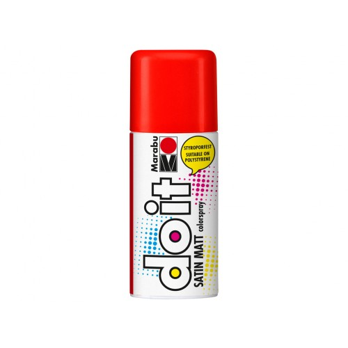 Marabu Do-It Colour Spraypaint Vermillion Satin Matt 150ml  (006)
