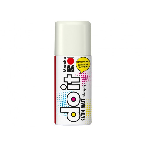 Marabu Do-It Colour Spraypaint White Satin Matt 150ml  (070)