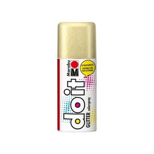 Marabu Do-It Colour Spraypaint Gold Glitter 150ml  (584)