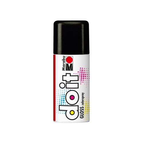 Marabu Do-It Colour Spraypaint Black Gloss 150ml  (472)