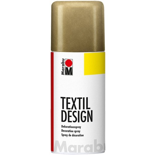 Marabu Textil Design Fabric Spraypaint Metallic Gold 150ml - Acrylic - Based