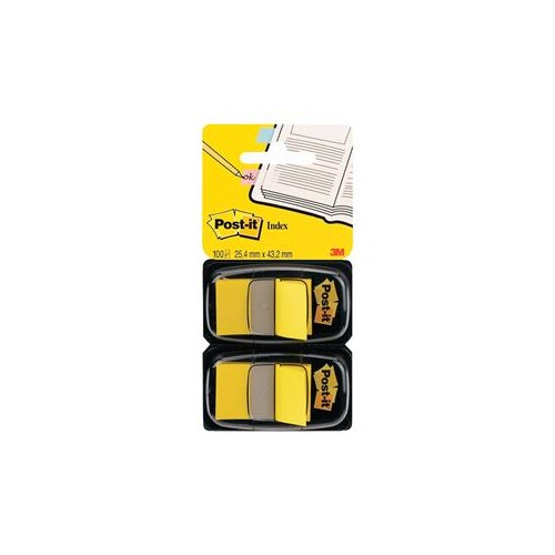 Post-It Index Dispenser Dual Pack Yellow 680-Y2EU PK100
