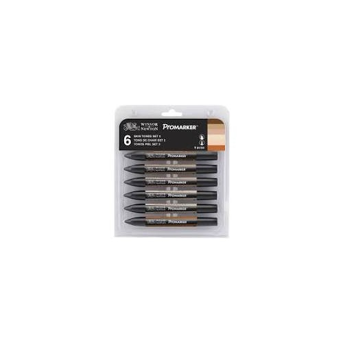 W&N Promarker 6 Neutral Tones   Set of 6 PMCSNEU  (28382)