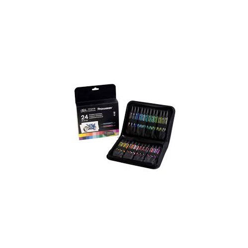 W&N ProMarker 24 Colour In Wallet Student Set  (28368)
