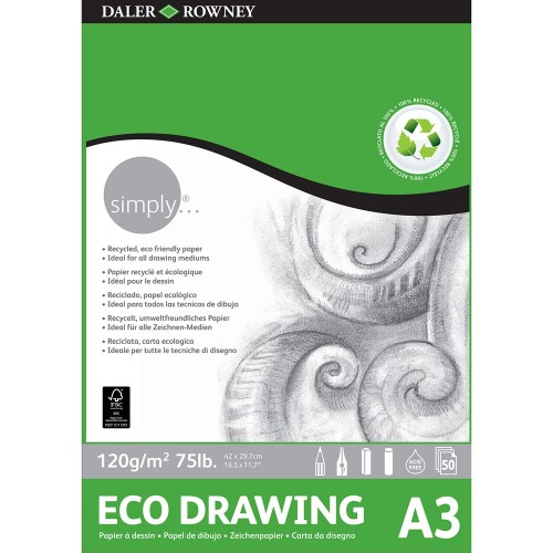 Daler Simply Eco Drawing Pad A3 (435933300) 120gsm 50 sheets