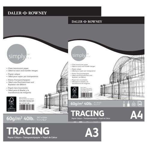 Daler Simply Tracing Pad A3 (435935300) 60gsm 40 sheets