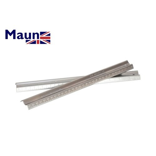 "Tech-Style Ruler Maun Steady  Safety Rule12"" Stainless Steel M.1773/012"