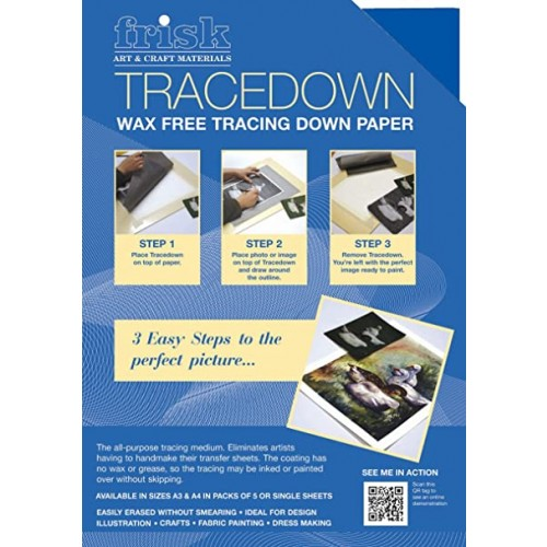 Frisk Tracedown A3 Blue pack of 5 sheets