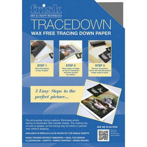 Frisk Tracedown A4 Graphite pack of 5 sheets