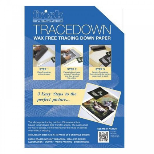 Frisk Tracedown A3 White pack of 5 sheets