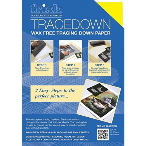 Frisk Tracedown A3 Yellow pack of 5 sheets