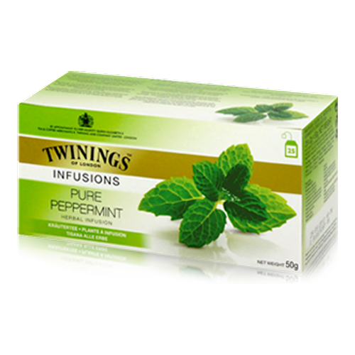 Twinings Pure Peppermint Herbal Infusion Tea Bags (Pk 20) F09612