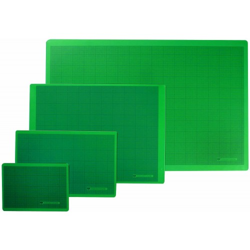 Cutting Mat A5 Green ( RS005643 ) 148 x 210 Dbl/Sided 1cm gridded 1 side