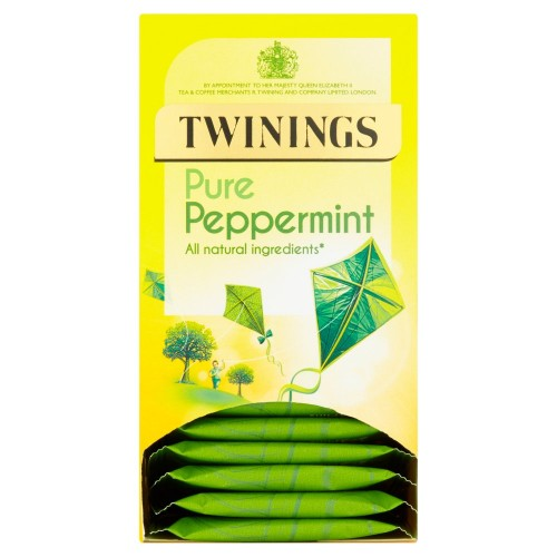 Twinings Revive & Revitalise Pure Peppermint 20 Envelopes 40g  case of 12)
