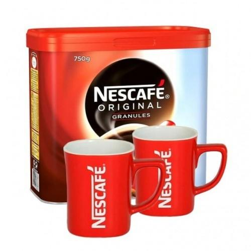 Nescafe Original x1 (750g) Tin with 2 Free Nescafe Original Mugs