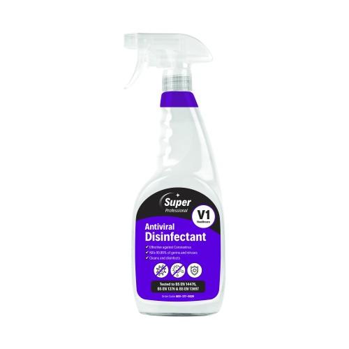 Antiviral Disinfectant Trigger Spray 750ml (pk 6). Effective against Coronavirus.