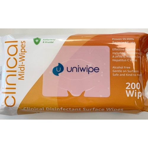 Clinical Antibacterial 99.99% Effective Sanitiser Wipes PK200