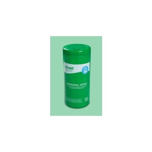 Clinell Universal 99.99% Effective Disinfectant/Sanitiser Tub Wipes (VJT223)