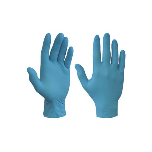 Small Nitrile Powder Free Blue Disposable Non Sterile Gloves 200 / Box