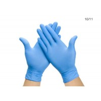 Large Nitrile Powder Free Blue Disposable Non Sterile Gloves 300 / Box