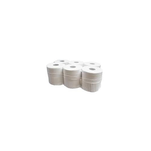 """Mini Jumbo Toilet Roll 2"""" Core 2ply 12x150m (12 Rolls)"""