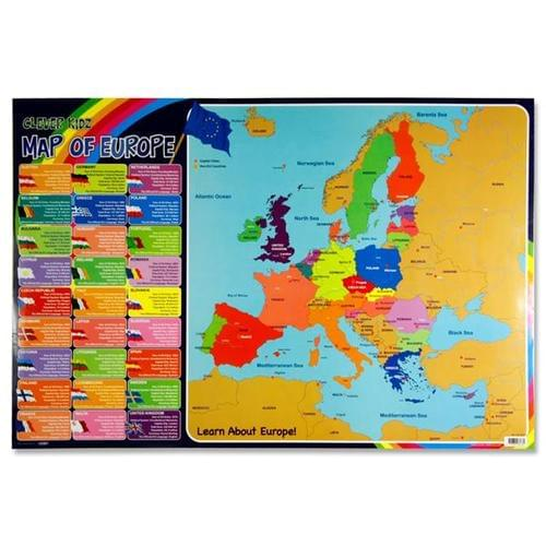 WALL CHART - MAP OF EUROPE