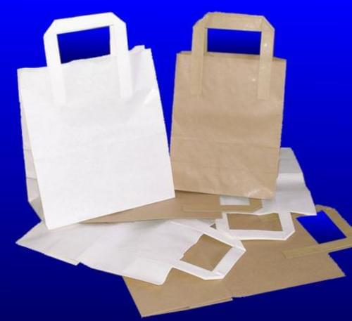 Paper Carrier bags brown 12 inch (Pack of 30)