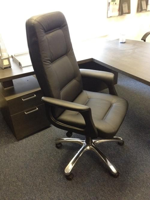 Milano Italian Leather Director Chair Black