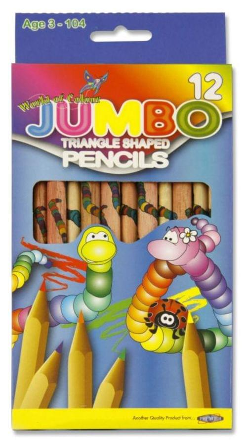 Jumbo Triangular Pencils (Pack of 12)